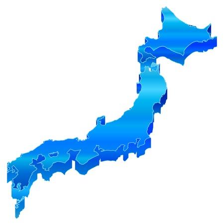 shikoku: 3D map of Japan Map of Japan
