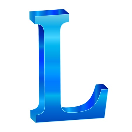 Blue alphabet L Stock Vector - 18638820
