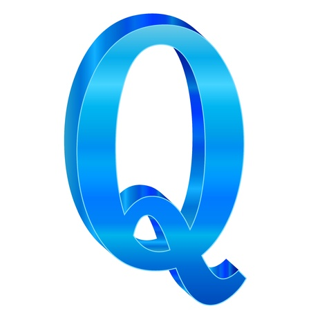 Blue alphabet Q Stock Vector - 18638822