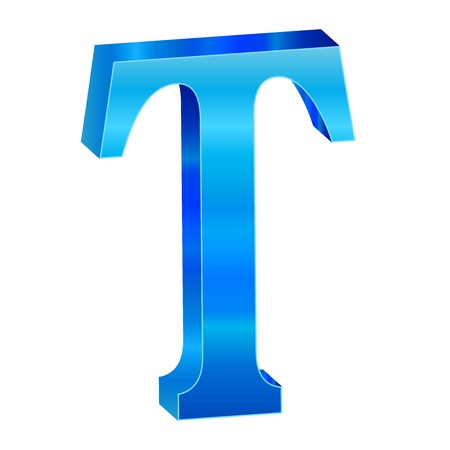 Blue alphabet T Stock Vector - 18638813