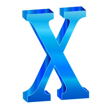 Blue alphabet X Stock Vector - 18638824