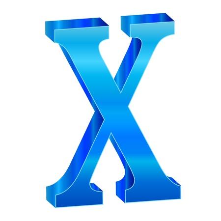 Blue alphabet X Stock Vector - 18638824