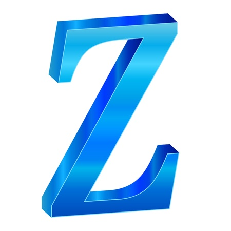 Blue alphabet Z Stock Vector - 18638815