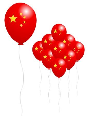 Balloon Chinese flag Stock Vector - 18701377