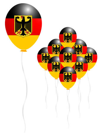 Germany flag balloon Stock Vector - 19245927