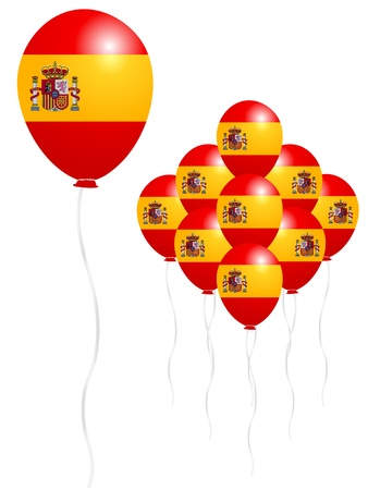 スペイン国旗のバルーン