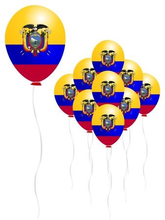 ecuador: Ecuador vlag ballon