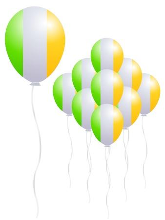 Ireland flag balloon Stock Vector - 18701376