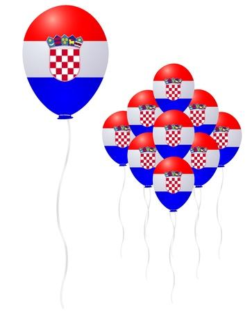 bandiera croazia: Croazia palloncino bandiera