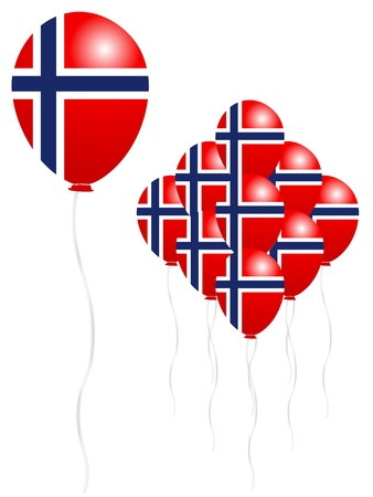 Norwegian flag balloon Stock Vector - 18701426