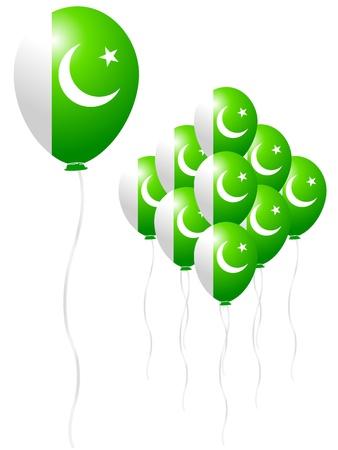 Pakistan flag balloon Stock Vector - 18701422