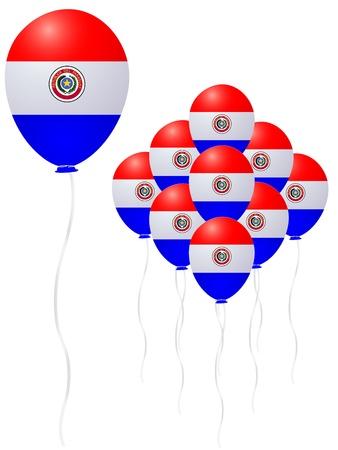 Paraguay flag balloon Stock Vector - 18701476