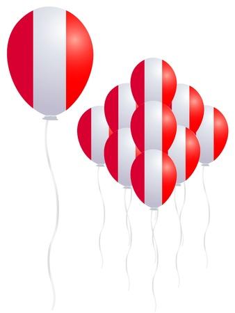 Peru flag balloon Vector