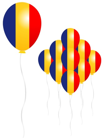 Romania flag balloon Stock Vector - 18701420