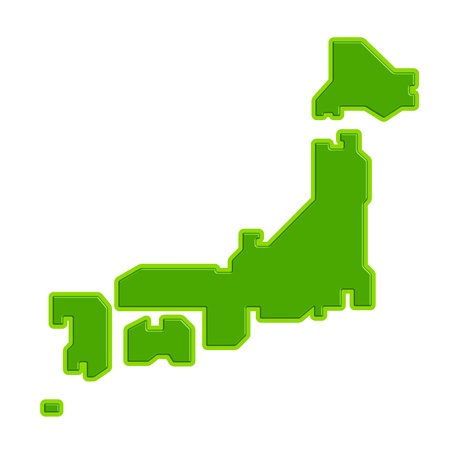 Map of Japan Vector