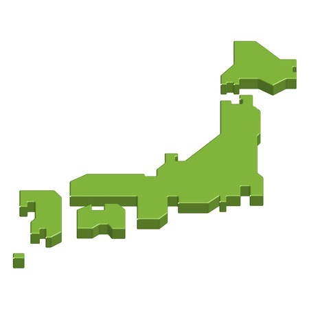 prefecture: Map of Japan Illustration