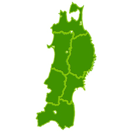 fukushima: Japan Tohoku map