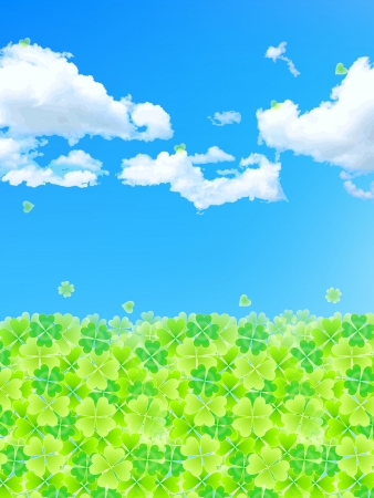 Summer background leaf clover Stock Vector - 18701480