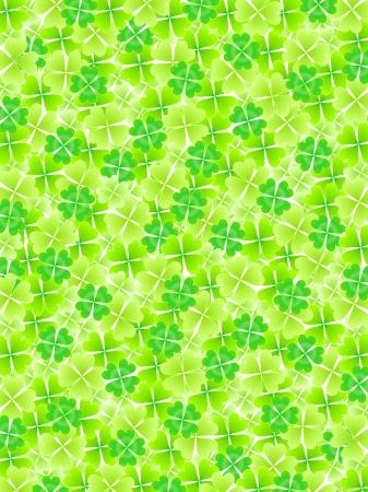 Four Leaf Clover leaf background Stock Vector - 18701394