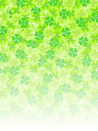 Four Leaf Clover leaf background Stock Vector - 18701503