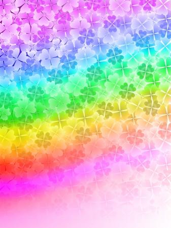 Rainbow background leaf clover Stock Vector - 18701479