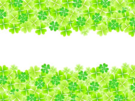 four leaf: Four Leaf Clover fondo de la hoja Vectores
