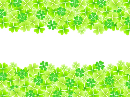 Four Leaf Clover leaf background Stock Vector - 18701397
