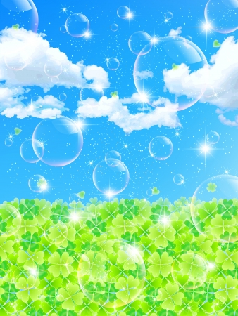 Summer background leaf clover Vector
