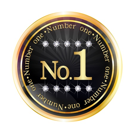 Number 1 Gold Frame Vector