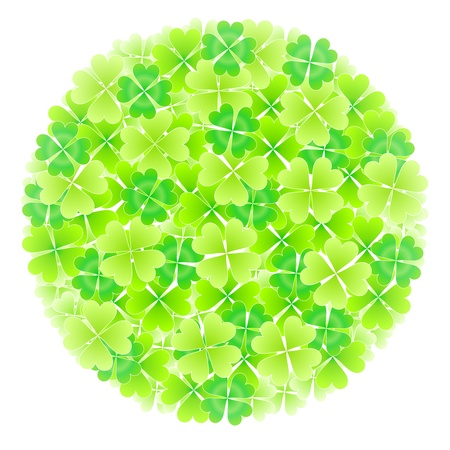 Four Leaf Clover Leaf Bouquet Vector
