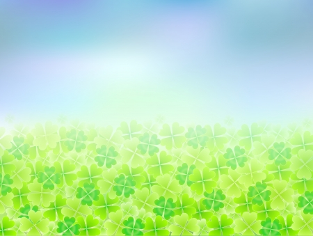 Clover background sky landscape Stock Vector - 18771072