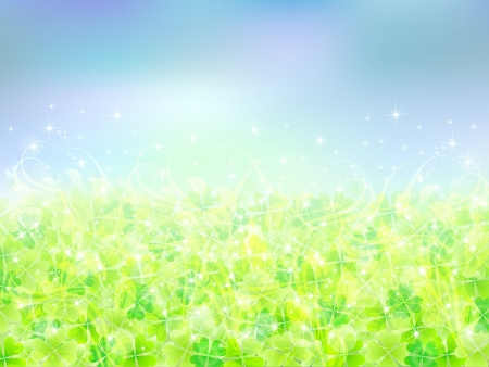 Clover background sky landscape Stock Vector - 18771239