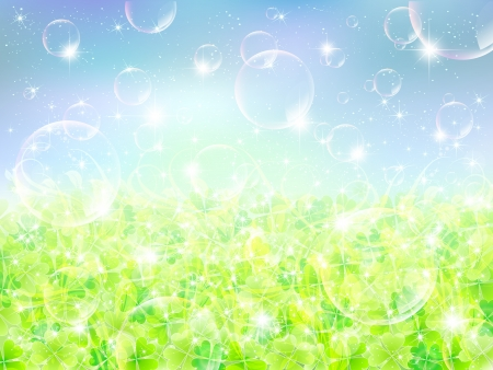 Clover background bubble Vector