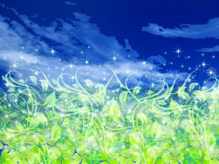 Sky background leaf clover Stock Vector - 18772364