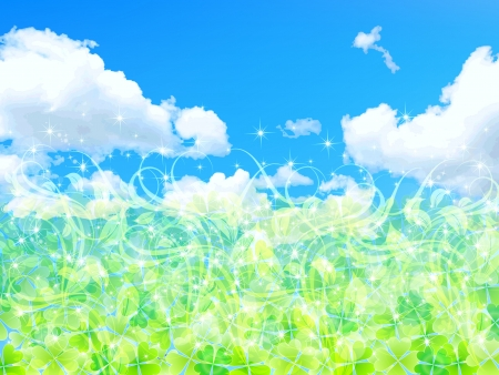 Clover sky background sky Vector