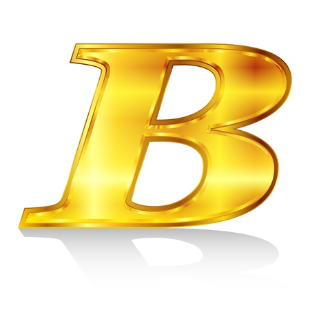 B emblem alphabet Stock Vector - 18869344