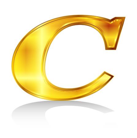C emblem alphabet Stock Vector - 18869339