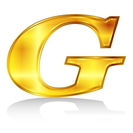 G emblem alphabet Stock Vector - 18869336
