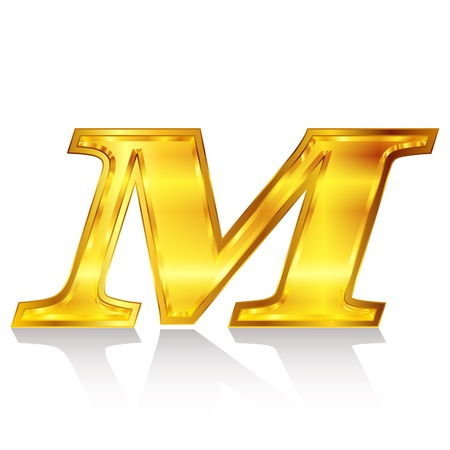 M emblem alphabet Stock Vector - 18869345