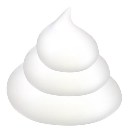 cleansing: Foam mousse cream Illustration