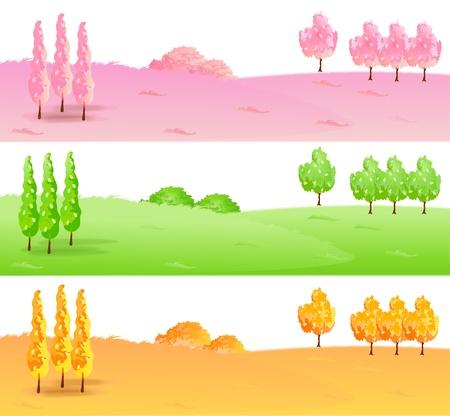 plateau: Cherry maple leaf background Illustration