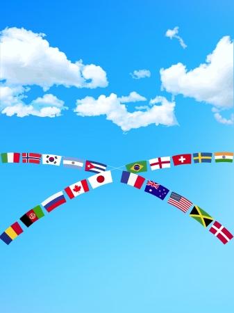Cert�menes deportivos bandera azul cielo de fondo nacional