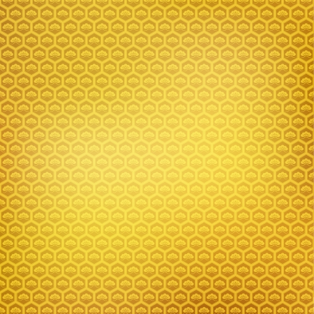 Japanese pattern pine gold background Stock Vector - 18997555