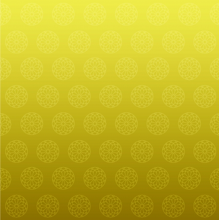 Chrysanthemum gold background Vector