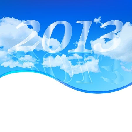 and he shines: New Year 2013 background sky