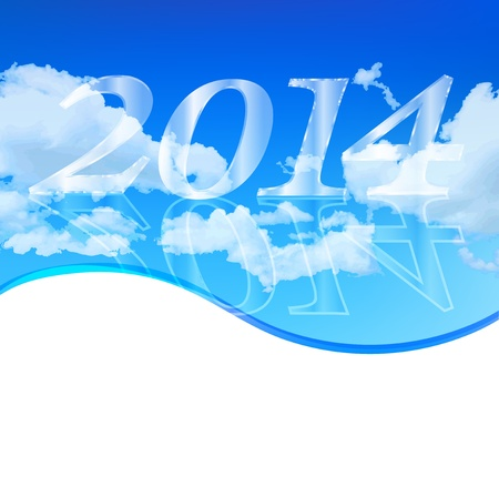 New Year 2014 background sky Stock Vector - 19109861