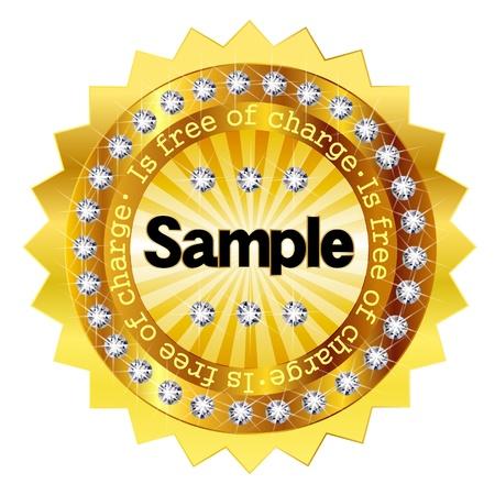 無料サンプル ゴールド メダル  イラスト・ベクター素材