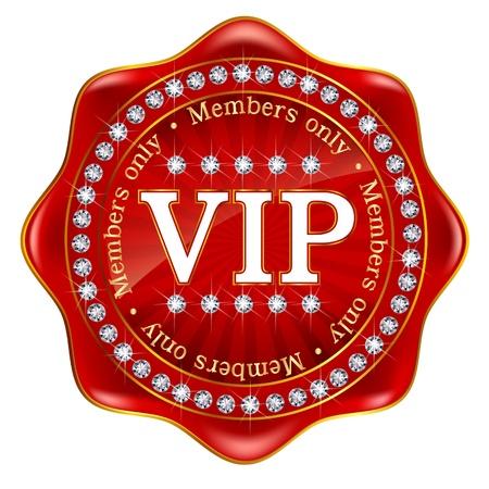 VIP フレーム エンブレム メダル  イラスト・ベクター素材