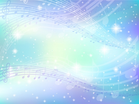 Music note background sky Vector