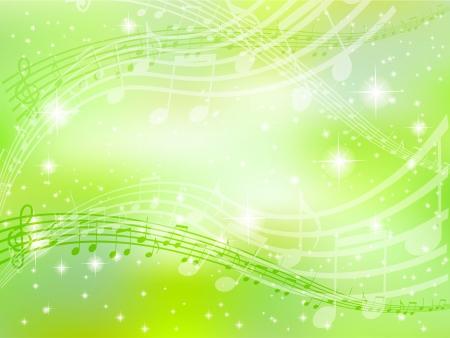 音楽ノート背景緑